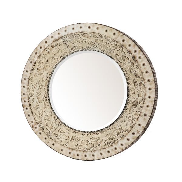 Metalen ronde spiegel - Metalen spiegel ...