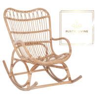 schommelstoel rotan j-line bamboe naturel
