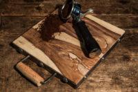 Plank metalen handvat