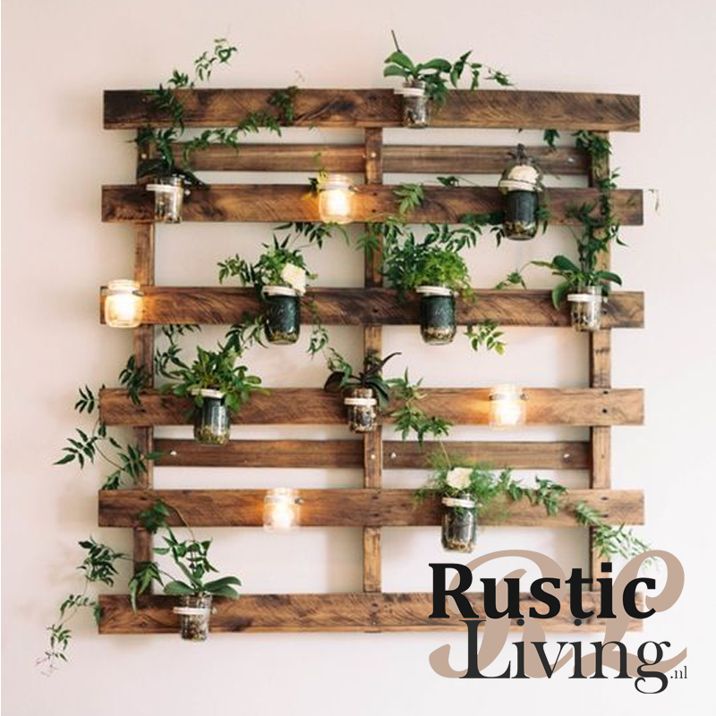 Groene Wand Pallet Rusticliving Nl