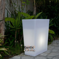 Dini W70 White E27 Lighting Jardiniere With Cable