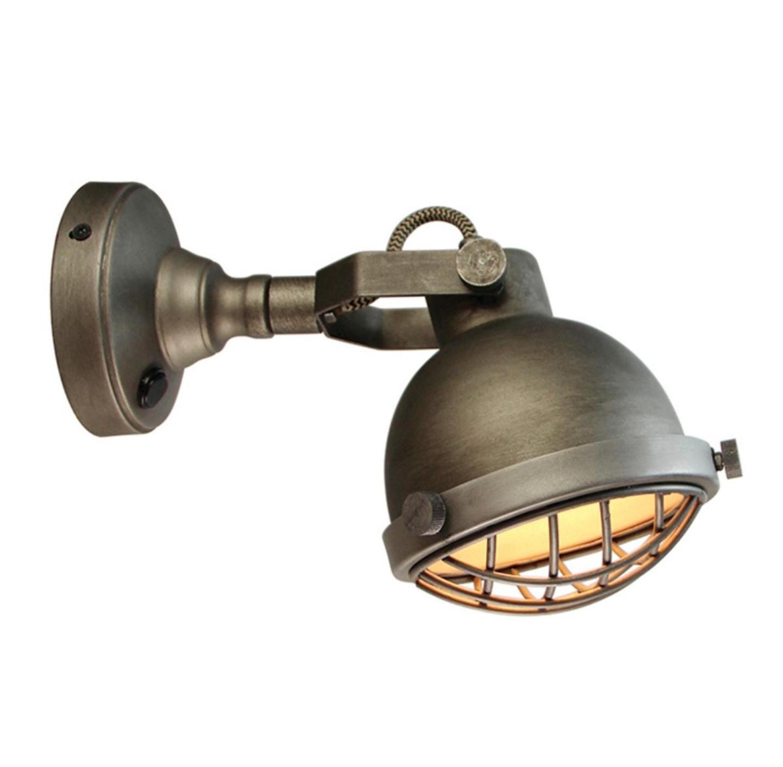 wandlamp Cas Burned steel