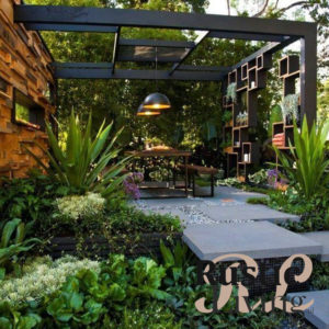 Grafische industriele tuin