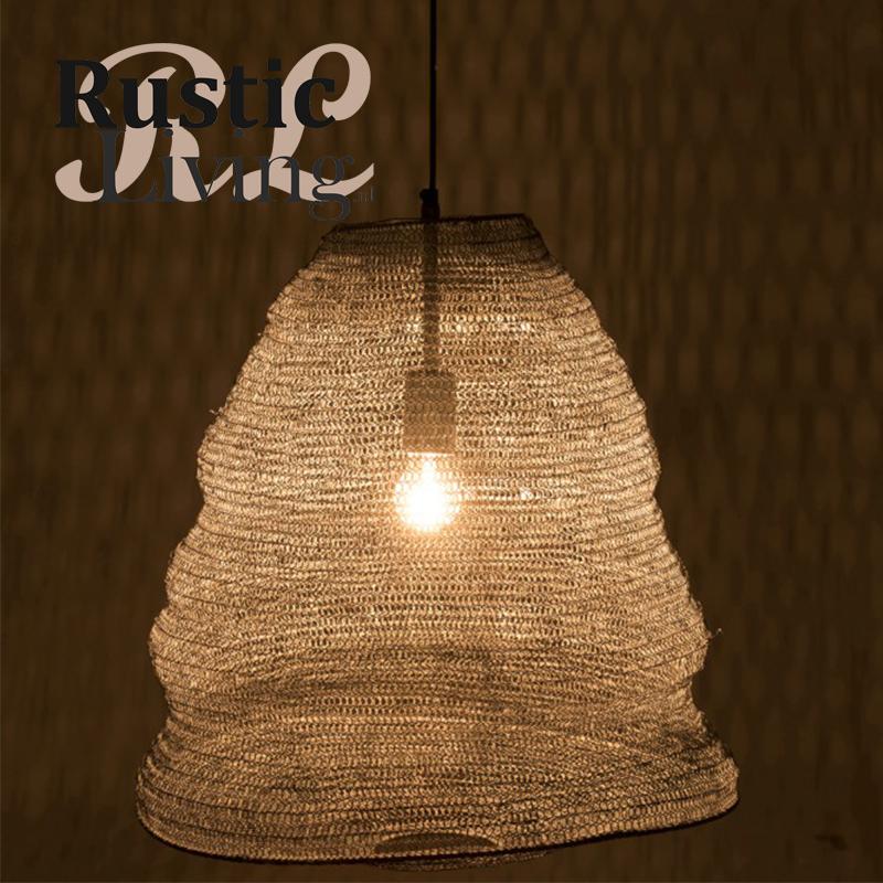 Hanglamp gaas Metaal donker grijs L