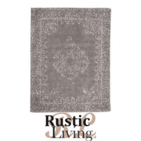 Vloerkleed vintage antraciet katoen polyester 140x160