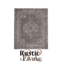 Vloerkleed vintage grijs katoen polyester 140x160