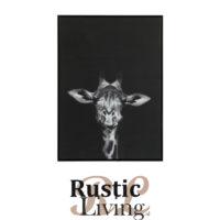 fotokader giraffe zwart canvas glans