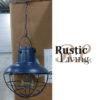 Lamp Led Hang Zonnepaneel Metaal Glas Blauw