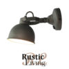 wandlamp bow L burned steel metaal label51