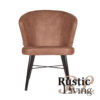 Lounge stoel fauteuil Wave microvezel Tanny metaal1