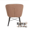 Lounge stoel fauteuil Wave microvezel stone metaal