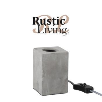 Tafellamp Vierkant Cement Grijs