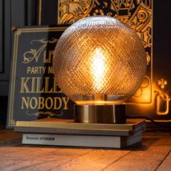 Tafel Lamp Bol Glas Zilver
