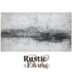 schilderij laura canvas hout wit grijs