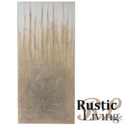 schilderij spatten hout canvas goud creme