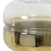 Vloerlamp Cherle glas goud metaal mat goud