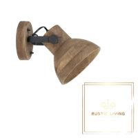 wandlamp ilanio manghout metaal mat zwart