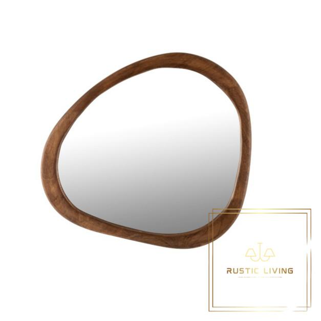 spiegel onregelmatig mangohout donkerbruin small