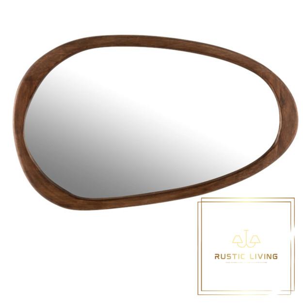 spiegel onregelmatig mangohout donkerbruin large